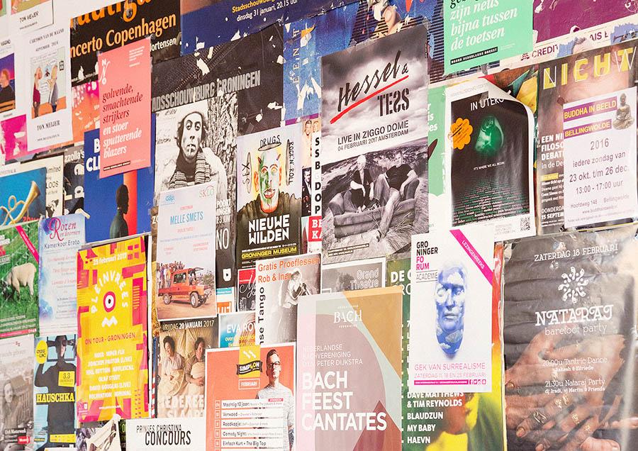 volle zalen - verspreiding van posters, flyers, magazines en kranten